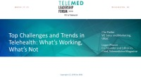 Top Challenges and Trends in Telehealth: What's Working, What's Not